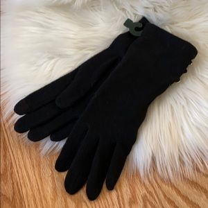 Ralph Lauren Logo Button Touch Gloves